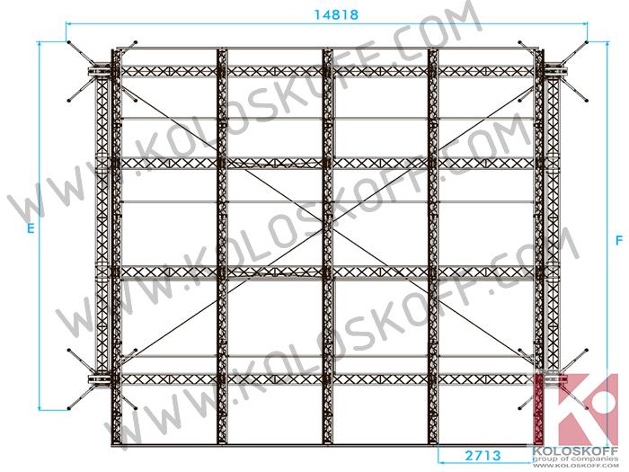 Аренда Prolyte Clt Roof 12x10м Граунд 12х10 метров
